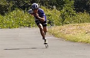 Double Push Inline-Skating