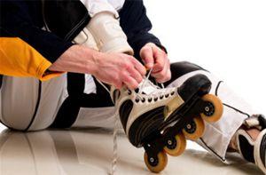 Inline-skates onderbinden