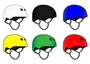 Skatehelm in verschillende kleuren