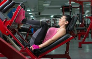 Skeeler training leg press