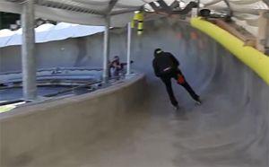 Inline-skater bobslee