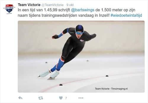 Bart Swings Team Victorie tweet