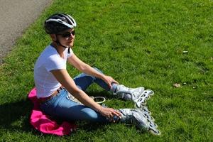 Uitrusten na het skaten