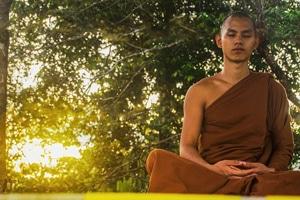 Mediterende monnik