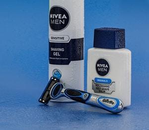Nivea en Gilette scheerproducten