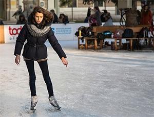 Afvallen met schaatsen