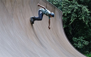 Balans op inline-skates