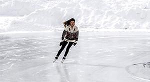 Schaatsen op de Viking Combi schaatsen
