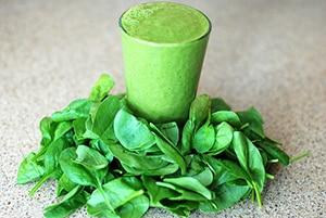 Smoothie van bladgroente met veel vitamines