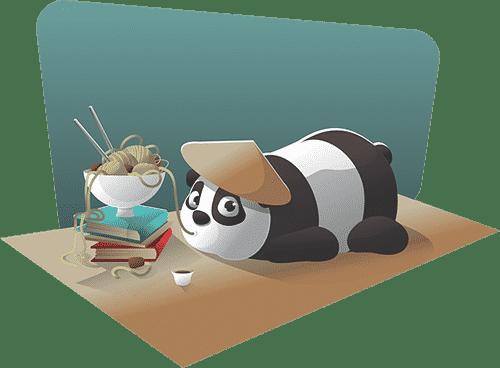 Panda slapen