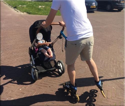 Inline-skaten met een kinderwagen