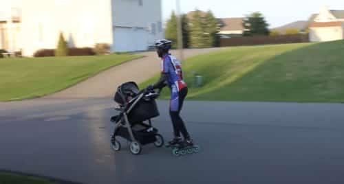 Veilig skeeleren met een kinderwagen, buggy of jogger