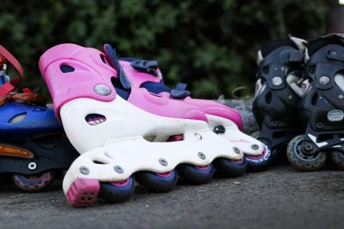 Roze inline-skates